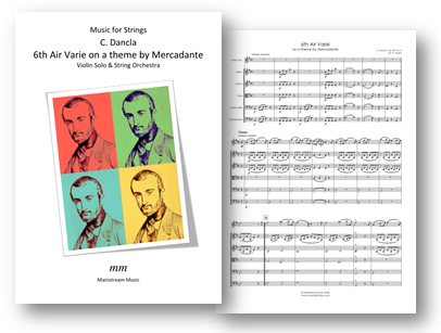 6th Air Varie on a theme by Mercadante - Solo Violin and String Orchestra