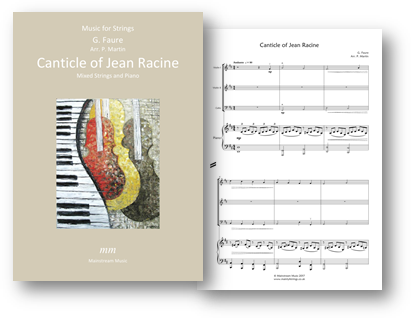 Canticle of Jean Racine - Mixed Strings and Piano