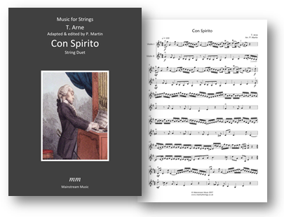 Music for String Duet - Arne - Con Spirito