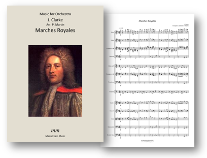 Marches Royales - Two Marches for Orchestra and String Orchestra - Quartet
