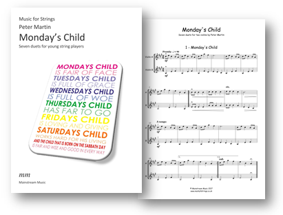 Monday's Child - Seven duets for mixed strings