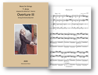 Arne - Overture III for String Orchestra