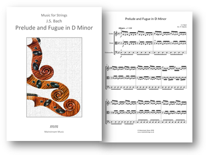 Prelude and Fugue in D Minor - String Trio