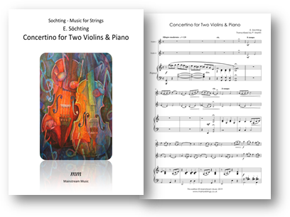 Concertino for Two Violins or Violin and Viola and Piano