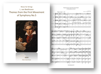 Themes from the First Movement of Symphony No 5 - String Orchestra/Quartet