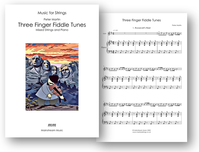 Three Finger Fiddle Tunes - Mixed Strings and Piano
