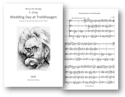 Wedding Day at Troldhaugen'  Op.65 No.6 arranged for string quartet/orchestra by Peter Martin